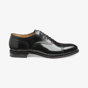 Juodi klasikiniai vyriški batai su perforacijomis