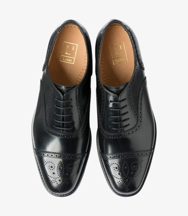 301BRF pusiniai brogai juodi oksfordo batai