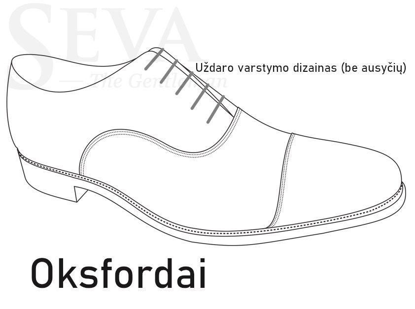 Oxford tipo batai (oksfordai)