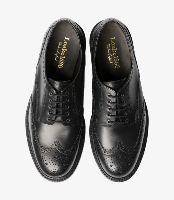 Kokybiški odiniai vyriški batai buka nosimi juodi