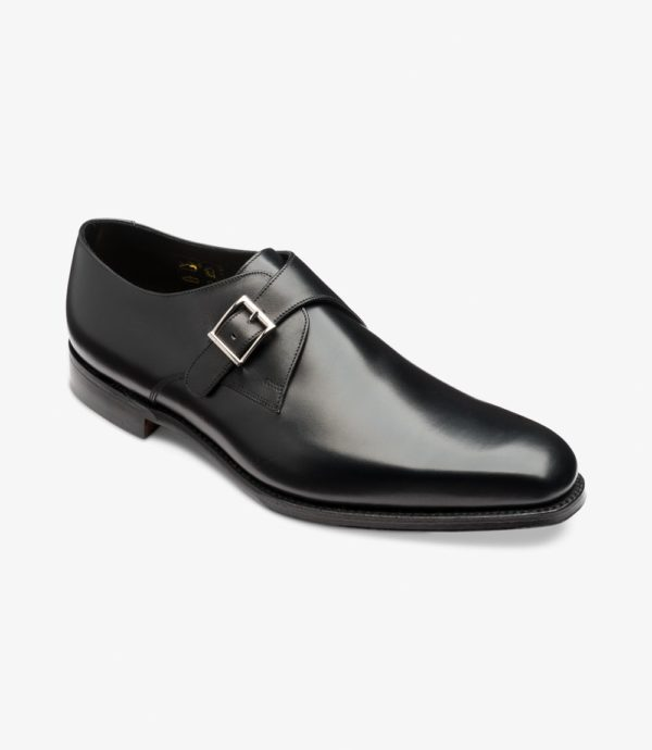 Loake Medway Elegantiški juodi batai su sagtimi