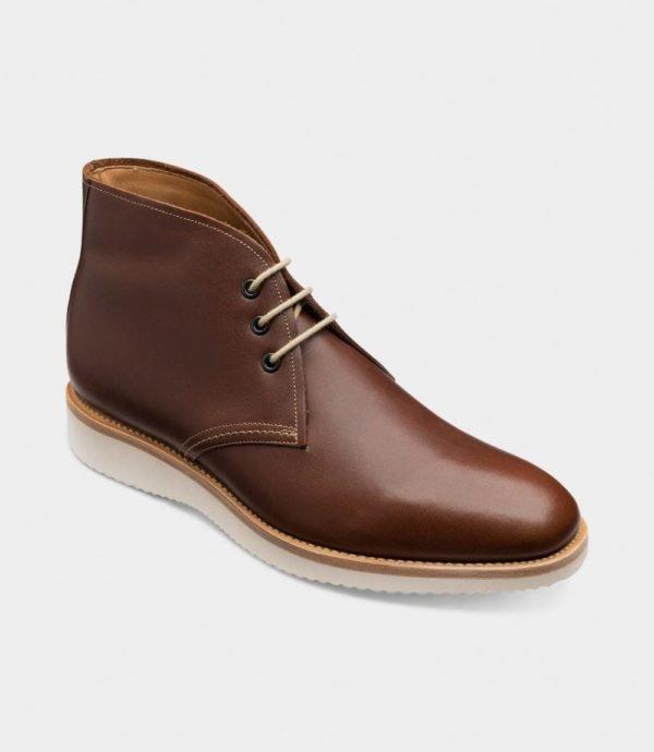 Loake Python rudi vyriški batai žemu auliuku