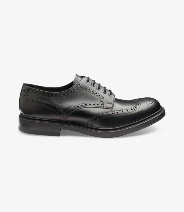 Loake Worton juodi odiniai vyriški batai buka nosimi