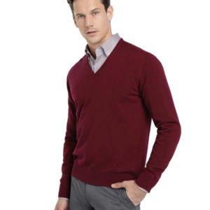 Prabangus vyriškas megztinis su šilku ir kašmyru