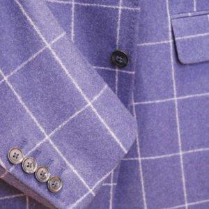 Scabal vyriškas švarkas mėlynas languotas