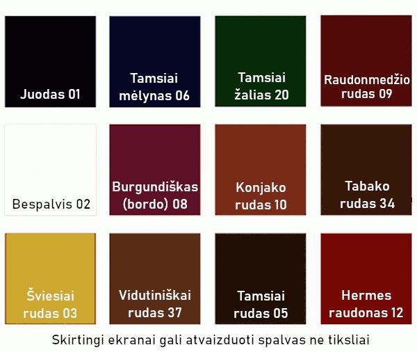 Įvairių spalvų batų kremai