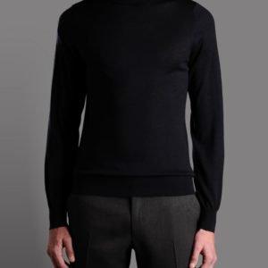 Prabangus vyriškas megztinis su aukštu kaklu (golfas)