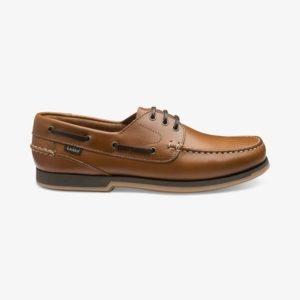 Loake 521 šviesiai rudi vasariniai vyriški odiniai denio batai