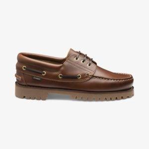 Loake 522 rudi odiniai denio batai