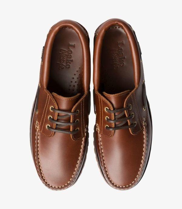 Loake 522 rudi odiniai vyriški batai vasarai