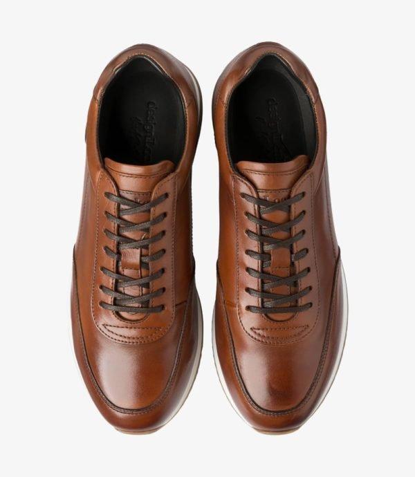 Loake Bannister odiniai vyriški kedai rudi