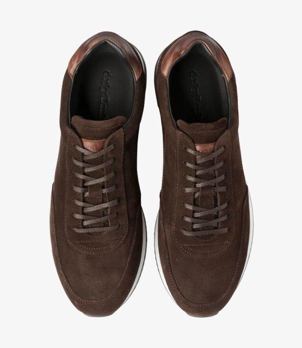 Loake Bannister odiniai vyriški kedai tamsiai rudi