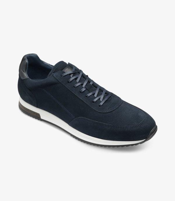 Loake Bannister odiniai vyriški laisvalaikio sportbačiai mėlyni