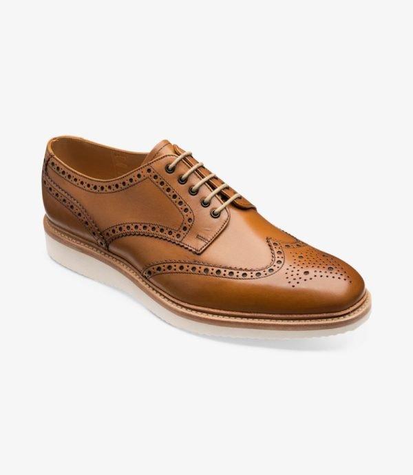 Loake Cobra stilingi odiniai vyriški batai šviesiai rudi 1