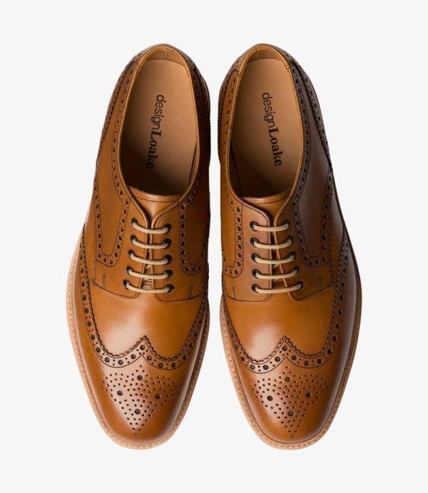 Loake Cobra stilingi odiniai vyriški batai šviesiai rudi 2