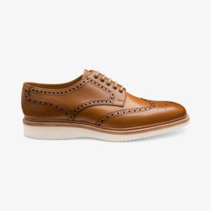 Loake Cobra stilingi odiniai vyriški batai šviesiai rudi