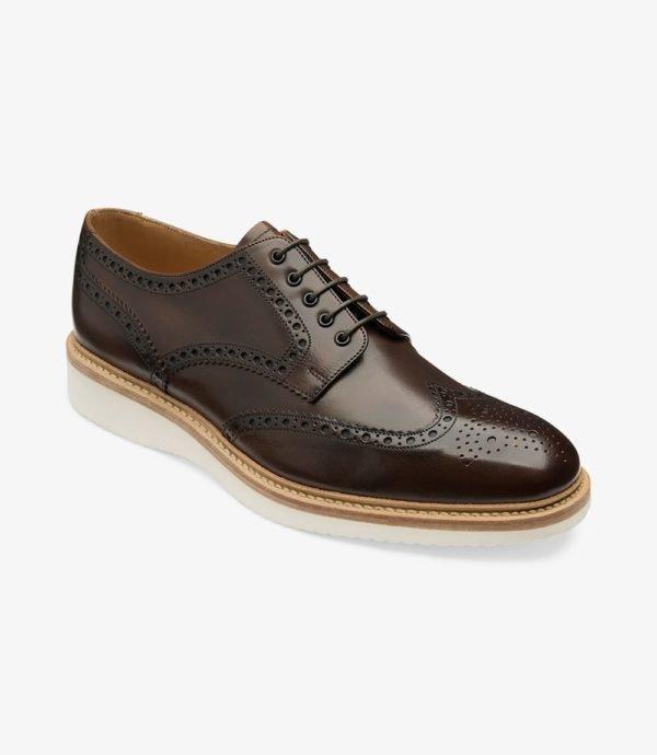 Loake Cobra stilingi odiniai vyriški batai rudi 1