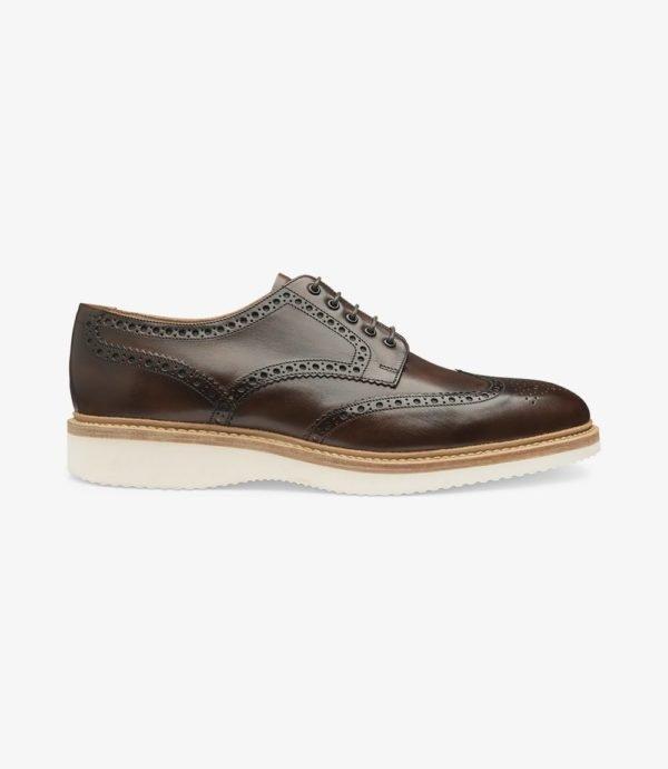 Loake Cobra stilingi odiniai vyriški batai rudi