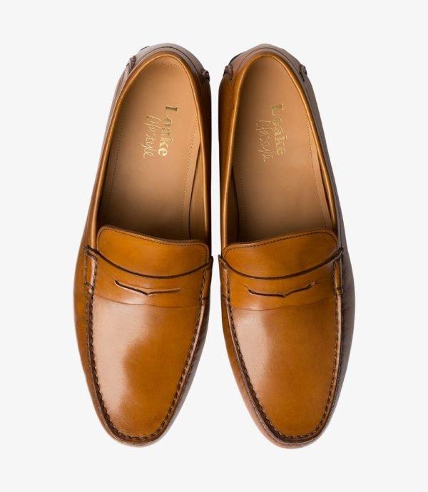 Loake Goodwood šviesiai rudi vyriški batai vasarai