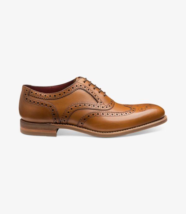 Loake Kerridge šviesiai rudi vyriški odiniai batai prie kostiumo