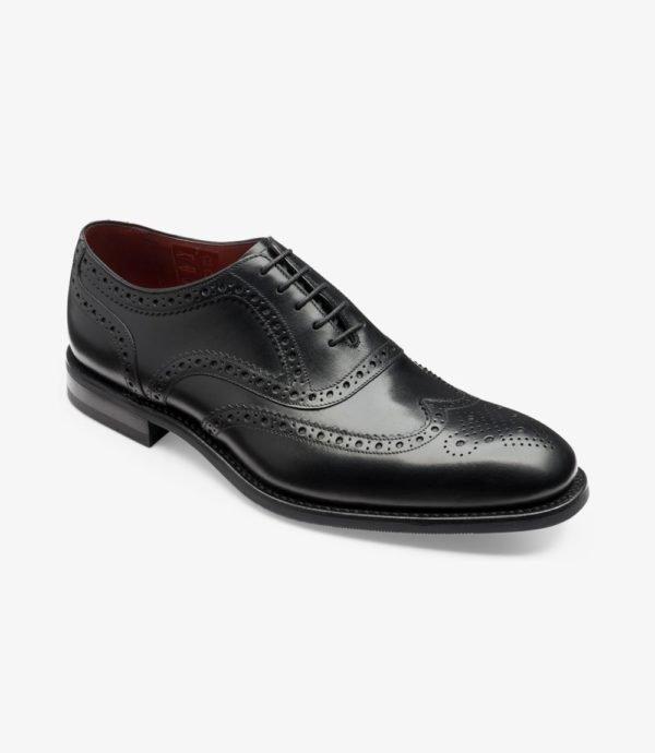Loake Kerridge juodi vyriški odiniai batai prie kostiumo 1