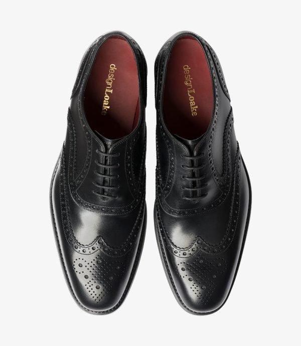 Loake Kerridge juodi vyriški odiniai batai prie kostiumo 2