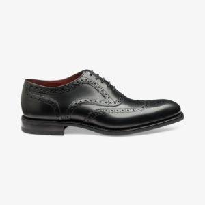 Loake Kerridge juodi vyriški odiniai batai prie kostiumo