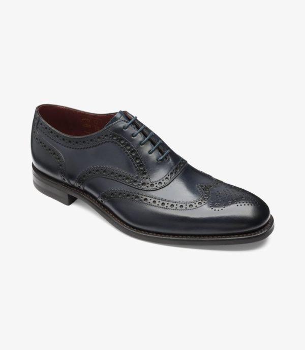 Loake Kerridge mėlyni vyriški odiniai batai prie kostiumo 1