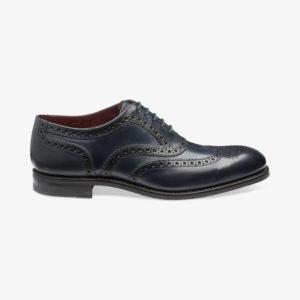 Loake Kerridge mėlyni vyriški odiniai batai prie kostiumo