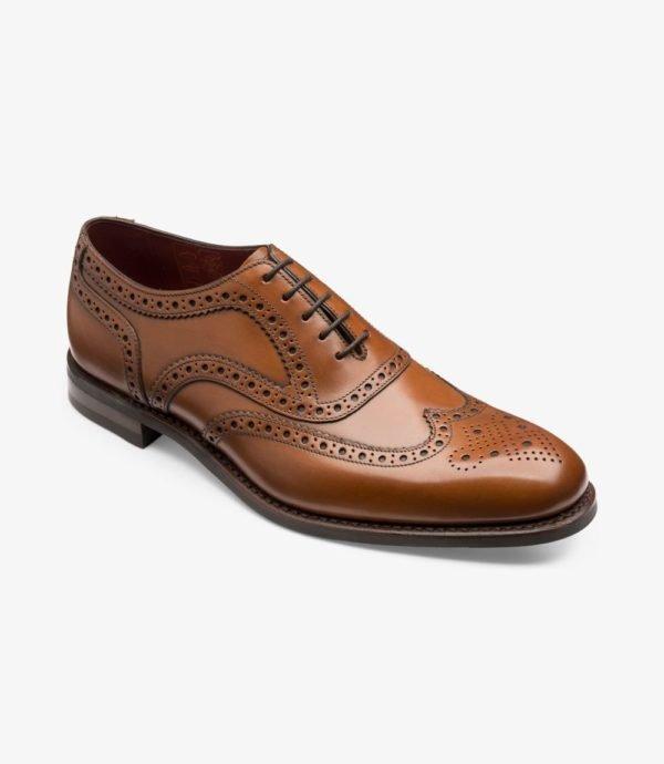 Loake Kerridge rudi vyriški odiniai batai prie kostiumo 1