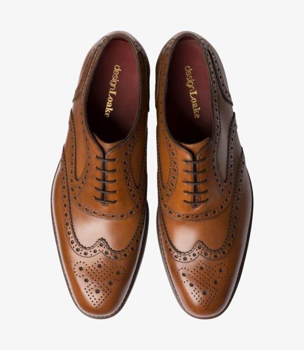 Loake Kerridge rudi vyriški odiniai batai prie kostiumo 2