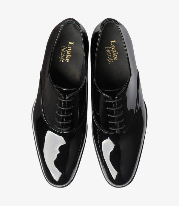 Loake Patent lakuoti batai prie smokingo ir frako