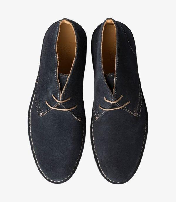 Loake Sahara kasdieniai mėlyni batai prie džinsų