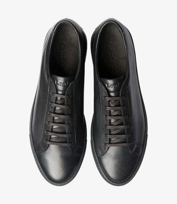 Loake Sprint kokybiški vyriški odiniai sportbačiai juodi 1