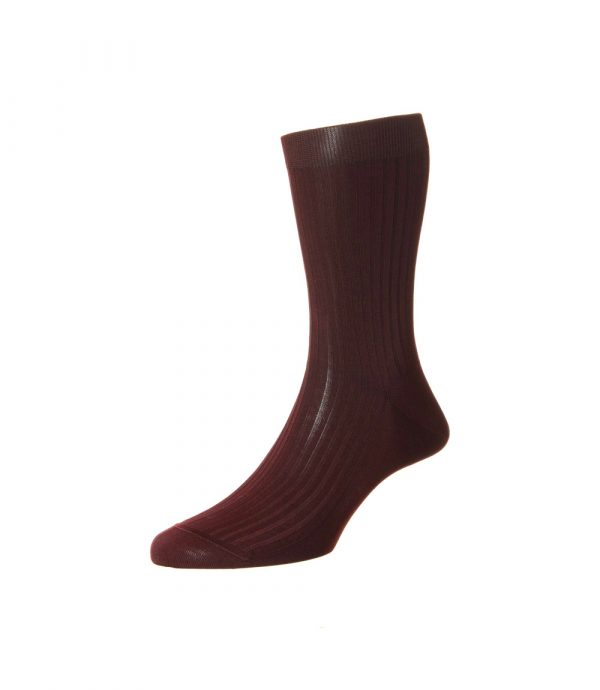 Burgundiškos (bordo spalvos) vyriškos kojinės Pantherella
