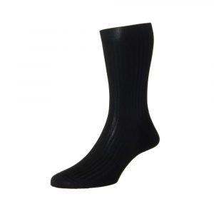Kokybiškos patvarios juodos vyriškos kojinės Pantherella Vale