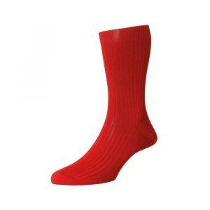 Raudonos prabangios vyriškos kojinės Pantherella Vale