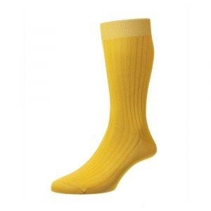 Geltonos spalvos vyriškos kojinės Pantherella