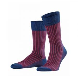 Mėlynos ir rožinės dryžuotos vyriškos kojinės Falke