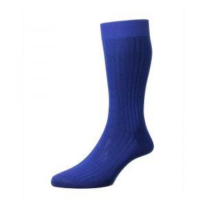 Mėlynos vyriškos kostiuminės kojinės Pantherella