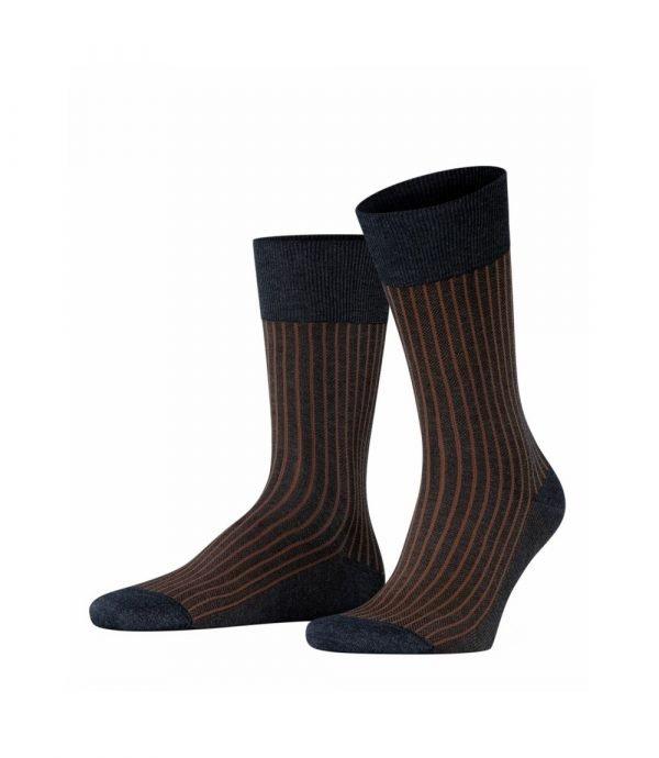 Pilkos dryžuotos kokybiškos vyriškos kojinės Falke