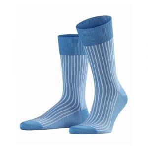 Šviesiai mėlynos dryžuotos vyriškos kojinės Falke