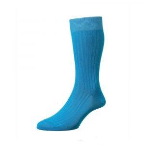 Šviesiai mėlynos vyriškos kojinės Pantherella