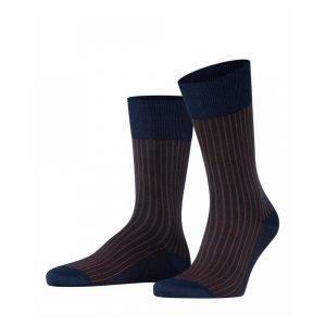 Tamsiai mėlynos dryžuotos vyriškos kojinės Falke