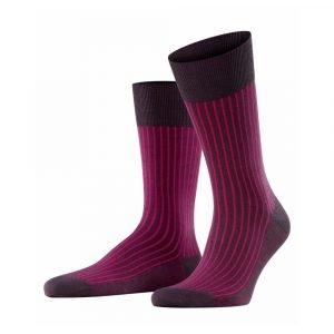Violetinės dryžuotos vyriškos kojinės Falke