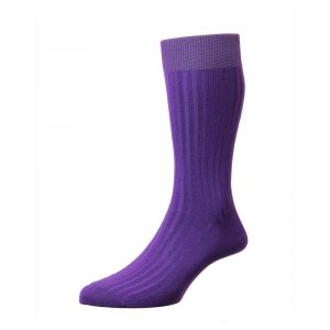 Violetines spalvos vyriškos kostiuminės kojinės Pantherella