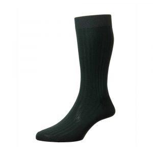 Žalios spalvos vyriškos kojinės Pantherella